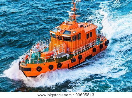 Rescue or coast guard patrol boat