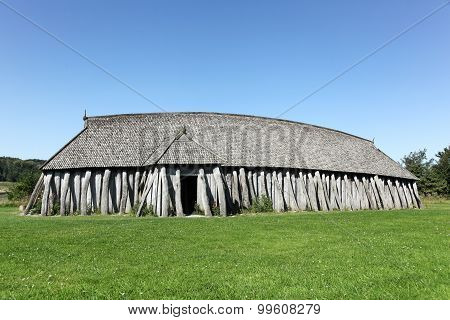 Viking house in the city of Hobro, Denmark