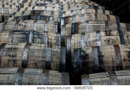 Rolling Bourbon Barrels