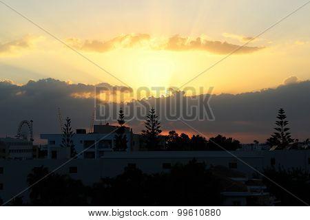 beautiful sunset, ayia napa, cyprus