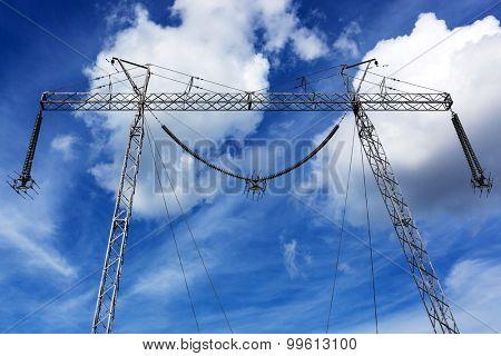 metal bearing power against the sky