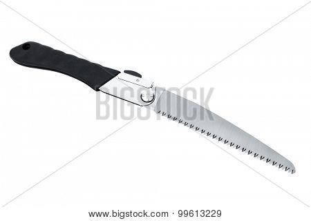 new folding hacksaw on a white background