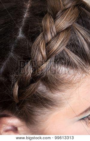 beautiful braid girl close up