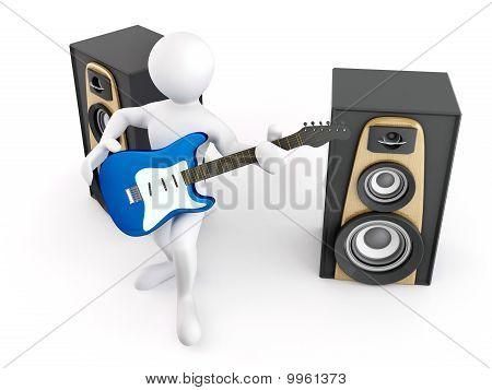 Men With Guitar And Loudspeaker
