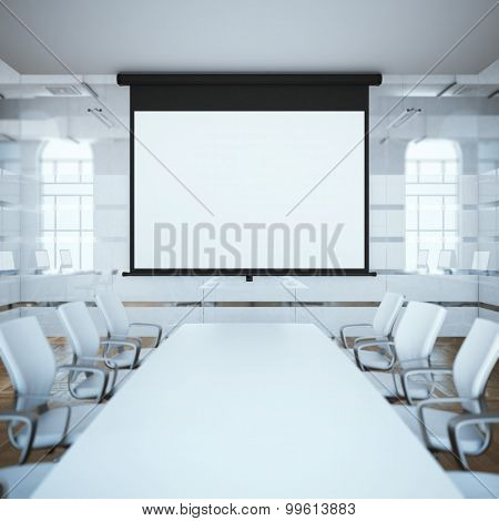 Black projector screen. 3d rendering