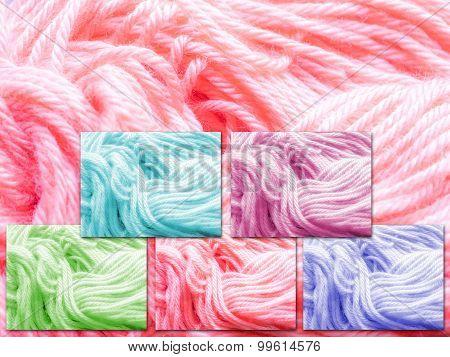 Pastel Yarn Samples