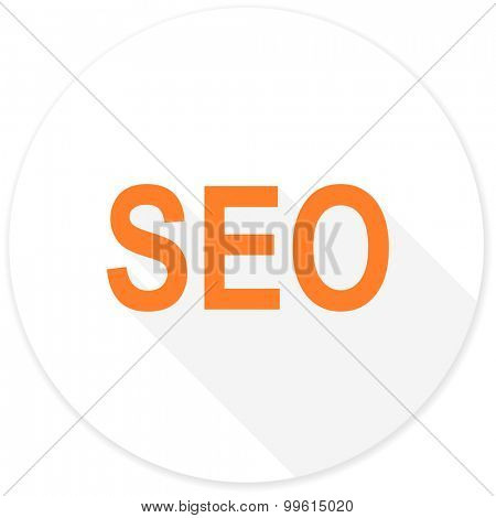 seo flat design modern icon with long shadow for web and mobile app