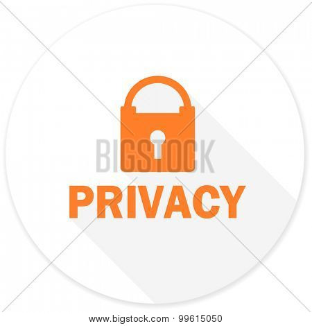 privacy flat design modern icon with long shadow for web and mobile app