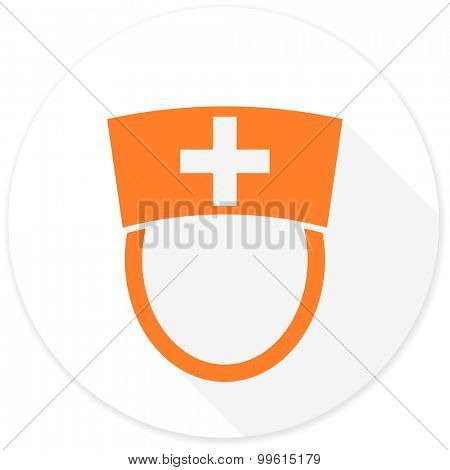 nurse flat design modern icon with long shadow for web and mobile app
