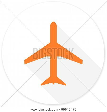 plane flat design modern icon with long shadow for web and mobile app