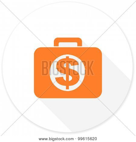 financial flat design modern icon with long shadow for web and mobile app