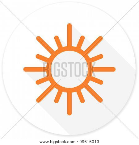 sun flat design modern icon with long shadow for web and mobile app