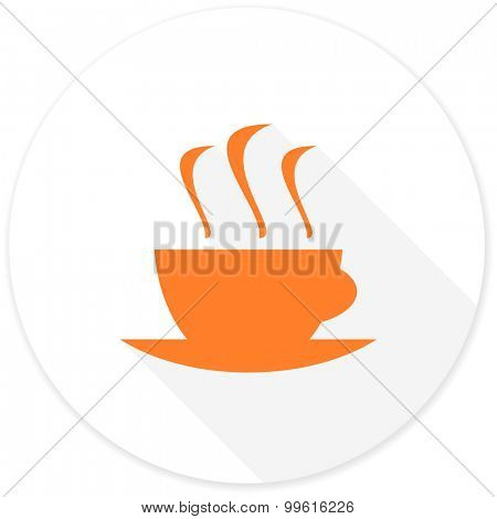 espresso flat design modern icon with long shadow for web and mobile app