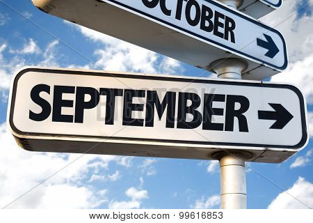 September directional sign