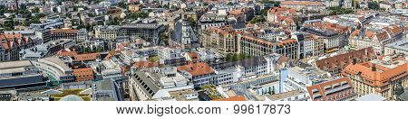 Panoramic View Of Leipzig