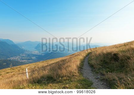 landscape, mountain meadows and paths