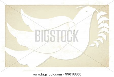 Christmas Peace Dove with Olive Branch