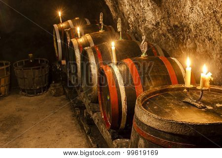 wine cellar in Velka Trna, Tokaj wine region, Slovakia