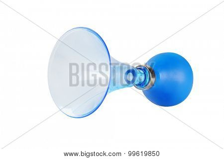 Plastic Air Horn on White Background