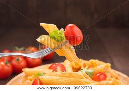 Pasta Penne With Tomato Sauce, Italian Food