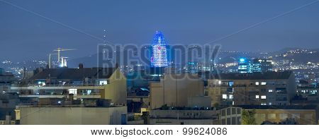 Torre Agbar At Night