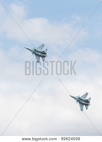 Su-30 Is Flying High In The Sky