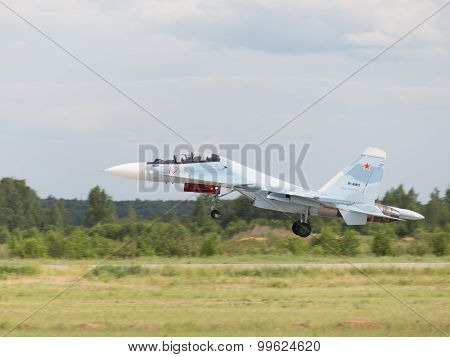 The Su-30 Is Landing