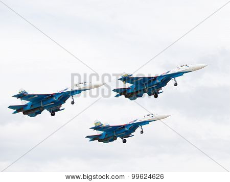 Three Powerful Su-27