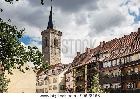 Kraemberbruecke and Roter Turm in Erfurt