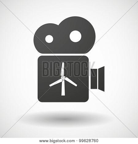 Cinema Camera Icon With A Wind Generator