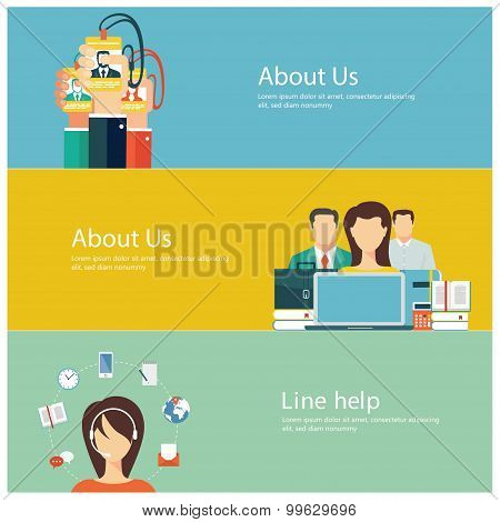 Flat design business concepts