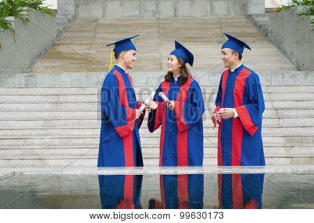 Talking graduating students