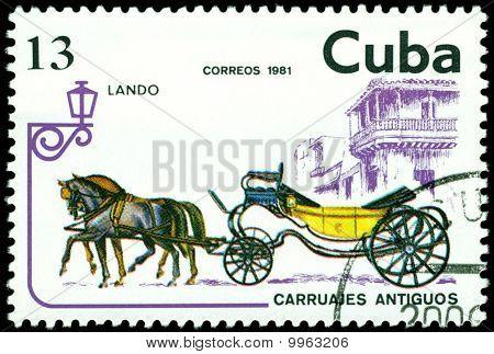 Vintage Postage Stamp. Landau.