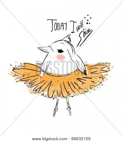 cute bird ballet