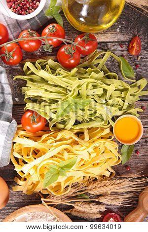 tagliatelle and ingredient