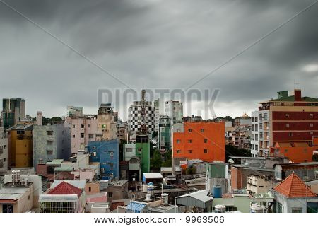 Ho Chi Minh City Under Monsonic Clouds