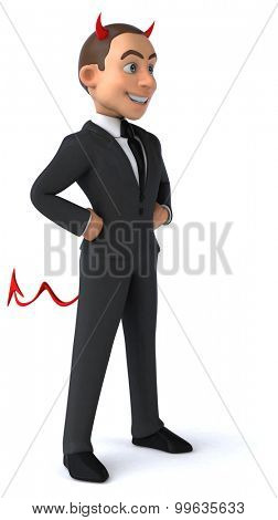 Fun businessman
