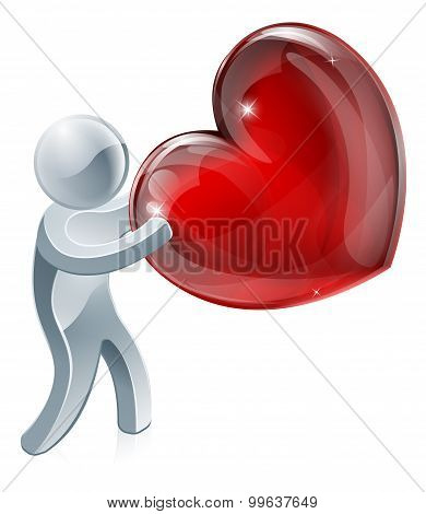 Person Holding Heart