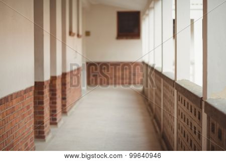 Straight passageway at an elementary school