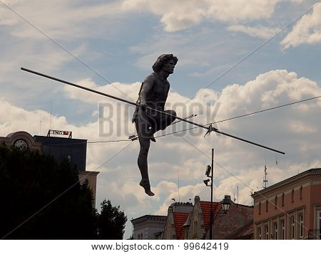 Tightrope walker from the Brda River.