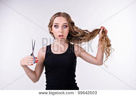Girl Thinks Cut  Her Long Hair