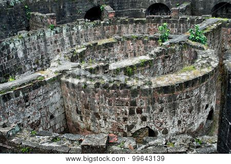 Ruined Spanish Fort at Intramuros Manila