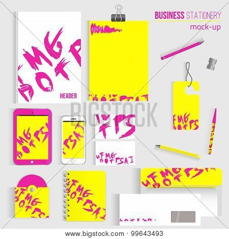 Huge bright corporate identity template for your business includes CD Cover, Business Card, folder,