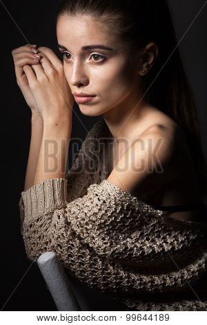 beautiful model portrait