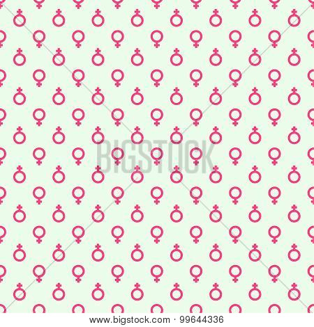 Repeating geometric background with  symbol of  feminine.