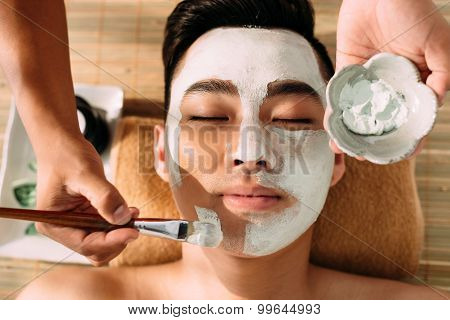 Receiving facial mask
