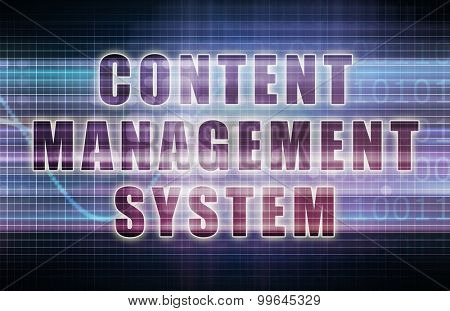 Content Management System or CMS on a Business Chart