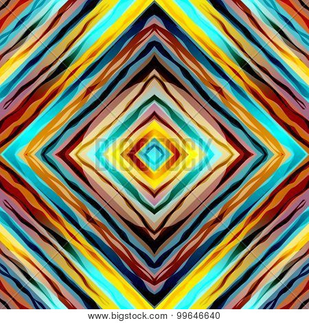 Abstract symmetric pattern with diagonal strikes.