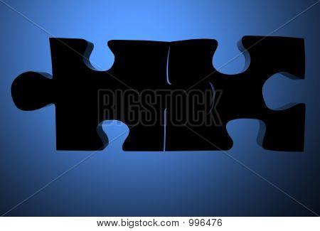 Assembled Puzzle Pieces