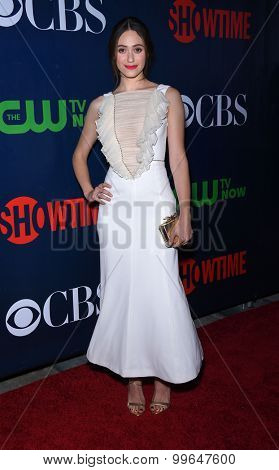 LOS ANGELES - AUG 10:  Emmy Rossum arrives to the Summer 2015 TCA's - CBS, The CW & Showtime  on August 10, 2015 in West Hollywood, CA